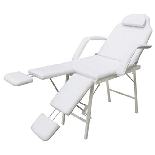 Tidyard Sedia Poltrona Massaggio Trattamenti Tattoo,Crema Sedia da Estetista,Poltrona Lettino Sedia per Massaggi Centro Estetico Fisioterapia Tattoo Portatile