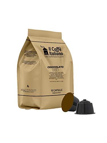 FRHOME - 48 Capsule compatibili Nescafè Dolce Gusto Cioccolato - Il Caffè Italiano