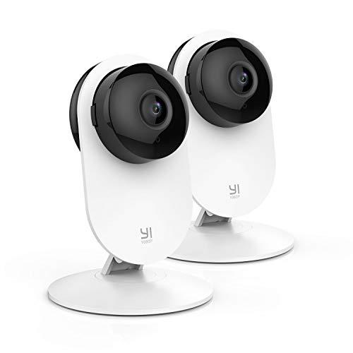 YI Telecamera di Sorveglianza 1080P Telecamera di Sicurezza da Interno Wifi full HD IP Camera Visione Notturna Sensore di Movimento Kit da 2