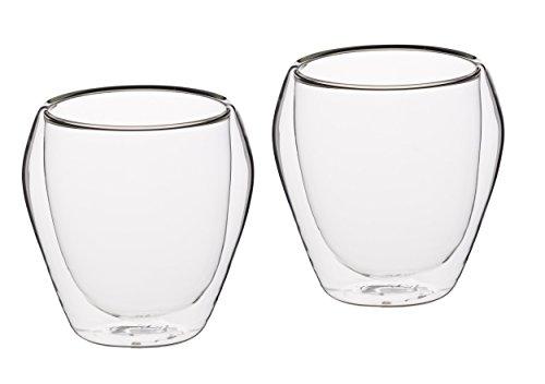 Kitchencraft Le' Xpress Isolante a Doppia Parete Vetro Bicchieri, 250ml (Confezione da 2)