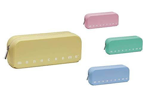 MONOCROMO Astuccio bustina rettangolare in silicone morbido colore pastel assortiti. Pigna