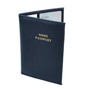 Storite PU Leather Slim Passport Case, Passport Cover - Blue 13