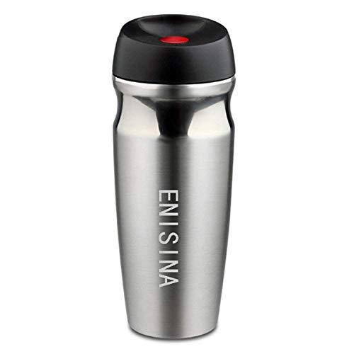 Enisina Thermobecher, Edelstahl Isolierbecher, Travel Mug, Quick Press Verschluss, geeignet für warm