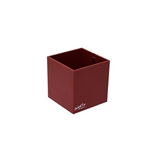 KalaMitica Cubo, Vaso Magnetico, Diametro 9 cm, Rosso