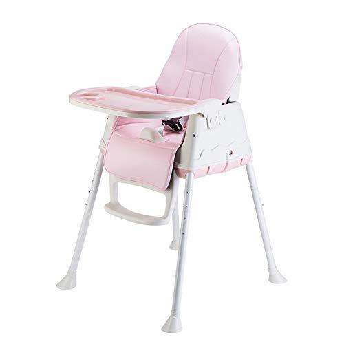 R-CHAIR Seggioloni per Neonati e Bambini Piccoli, Seggiolone Salvaspazio con Pieghevole Veloce, Facile e Compatto, per 6 Mesi - 45 Libbre,Pink