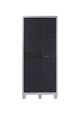 Toomax Woody'S XL Armadio Porta Scope, Grigio Chiaro/Antracite, 78x46x182 cm