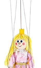 ABA 20 cm-Marionette-Giocattolo in Legno, Colore: Rosa