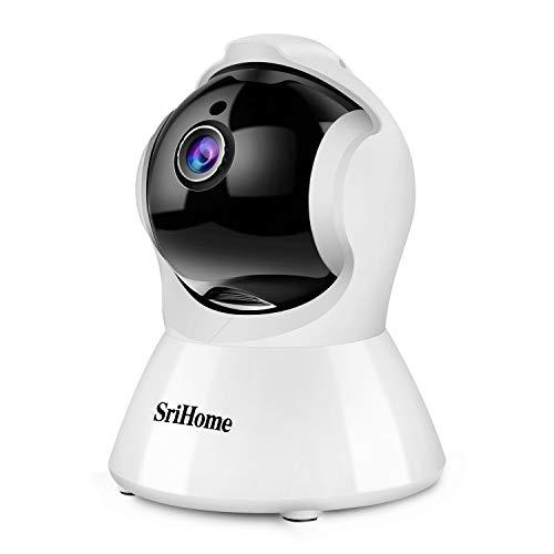 Srihome SH025 TelecameradiSorveglianza1080P, Videocamera WI-FI Interno Controllo remoto Con Audio Bidirezionale, Sensore di Movimento, Visione Notturna, Auto-Tracking