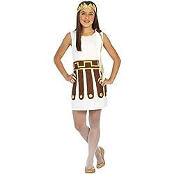 Atosa-20624 Disfraz Romana Color Blanco 7 a 9 años (20624