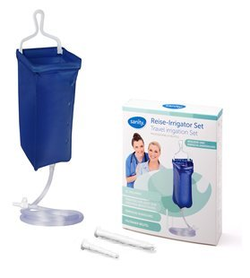 SANITY Irrigator-Set 2l Reise-Irrigator-Set Einlauf-Set Darmspülung Darmreinigung Intimdusche