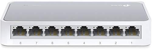 TP-Link TL-SF1008D Switch Desktop, 8 Porte RJ45 10/100 Mbps, Plug & Play