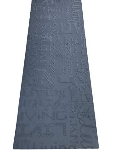 Tappeto cucina 67 X 400 living design scritte nero grigio lavabile in lavatrice antiscivolo (67x400...