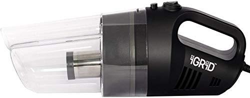 iGRiD Car Handheld Vacuum Cleaner with Stainless Steel HEPA Filter (12V) Black