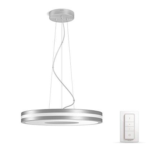 Philips Hue LED Pendelleuchte Being, dimmbar, alle Weißschattierungen, steuerbar via App, kompatibel mit Amazon Alexa (Echo, Echo Dot), silber