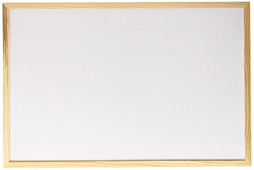 Faibo 702-2 Lavagna Magnetica, Cornice in Pino, 40 x 60, Bianco