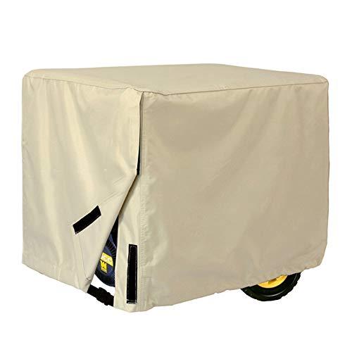 Fhz Cubierta exterior de polvo para generador, cubierta del generador Cubierta de lluvia para generador diesel (color : Beige-26in*20in*20in)