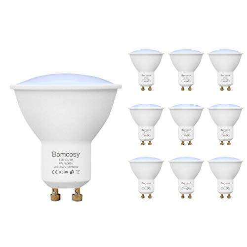 Bomcosy GU10 Lampadine LED, 7W Equivalente a 60W, Luce Bianca Calda 3000K LED Spotlight, 600LM, 150...