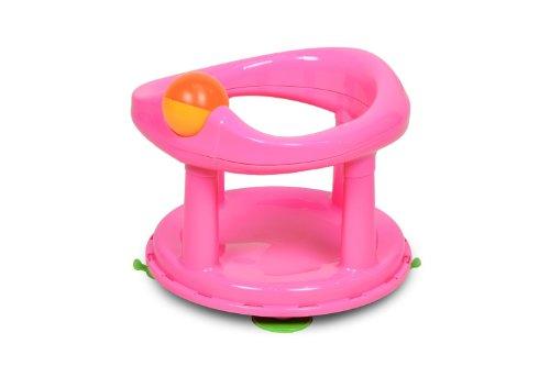 Safety 1st Seggiolino girevole per vasca da bagno e doccia, girello per il bagnetto girevole 360 gradi, con ventose di sicurezza, colore Rosa