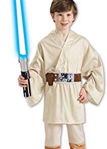 Rubies 883159M - Disfraz de Luke Skywalker Star Wars para niño, talla 5-7 años