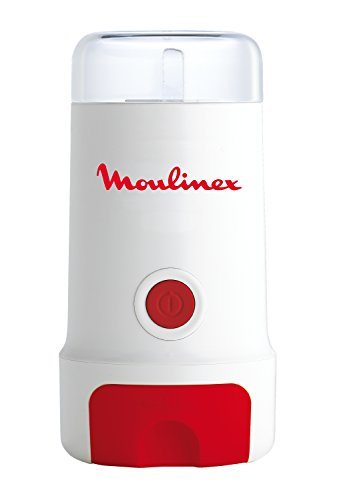 Moulinex MC3 MC300132-Molinillo de café, 180 W, Acero Inoxidable, plástico, Rojo, Color blanco
