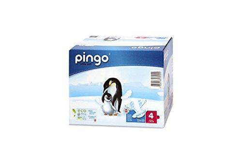 PINGO Pannolini ecologici taglia (4-kg maxi 7-18-Confezione da 2 x 40 pannolini ¡nuovo imballaggio compatto e biodegradabile!