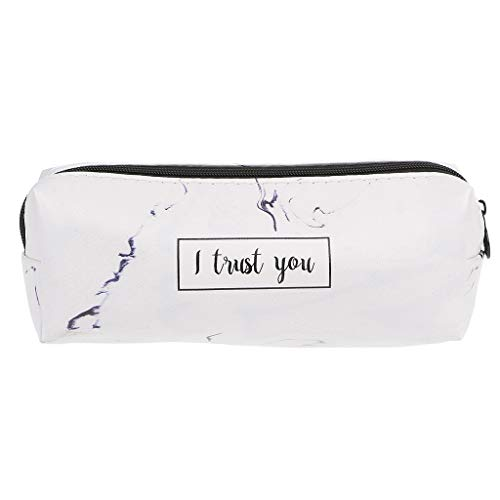 Lamdoo Marble Pencil Case Stationery School Supplies Storage Cases School Tools, PU, Blue, 21 * 10cm