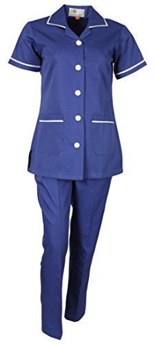 Uniform Craft Polyester and Cotton Twill Bright Blue Nurse Uniform, Medium, NT01 Bright blue_M