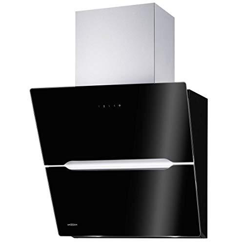 Oranier Vivio - Cappa estensibile da parete, 75 cm, colore: nero