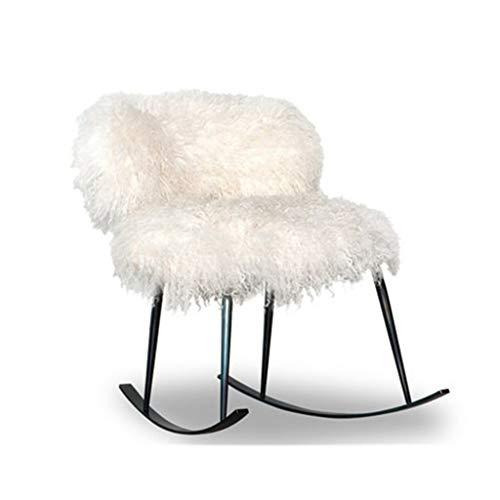 HYYTY-Y Singolo Divano a Dondolo, Soggiorno in Ferro battuto Decorato Lounge Chair 708-YY