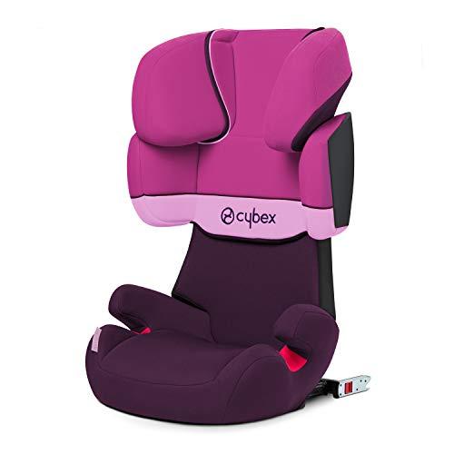 Cybex Silver Solution X-Fix - Seggiolino Auto per Bambini, Gruppo 2/3 (15-36 kg), da 3 Fino a 12 Anni Circa, Per Auto Con e Senza ISOFIX, Viola (Purple/Purple Rain)
