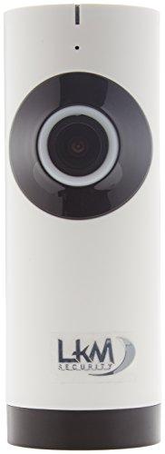 Videocamera sorveglianza IP Fish-Eye LKM Security, risoluzione HD, Grandangolo 180°, Wireless, Accessibile da remoto tramite smartphone, Wi-Fi con slot MicroSD