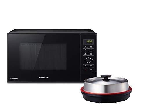Panasonic NN-GD35HBGTG Kombi-Mikrowelle mit Grill und Dampfgarer / Steamer / 1.000 W / Pizzapfanne / 23 L / Schwarz