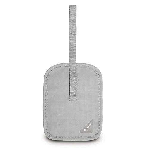 Pacsafe Coversafe V60 Anti-Theft RFID Blocking Secret Belt Wallet, Neutral Grey