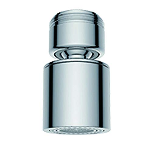 Waternymph Hibbent Golpecito del grifo del aireador 24 mm macho - Ahorra Agua Aireador Aireador de repuesto de latón para grifo de rosca macho de 24 mm con junta, cromo pulido M24