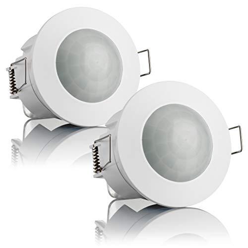 sebson 2X Rilevatore di Movimento da Incasso per Interni, Montaggio a soffitto, LED Adatto,...