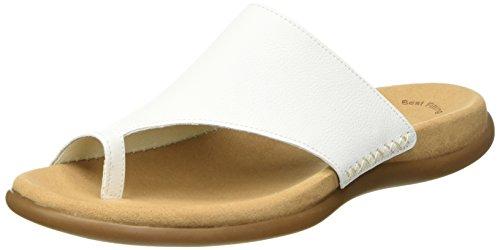 Gabor Damen Lanzarote Sandalen, Weiß (Blanc Leather), 39 EU