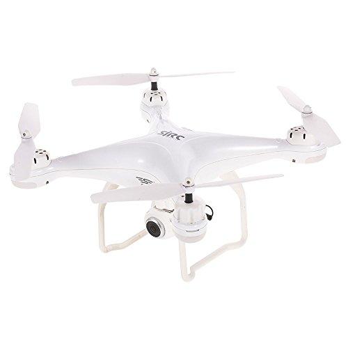 Fenghong Aircraft, Sjrc S20W Smart Posizionamento di Ritorno GPS Segue automaticamente Il Drone HD Trasmissione Immagine quadricottero 720P Dual GPS (Bianco)