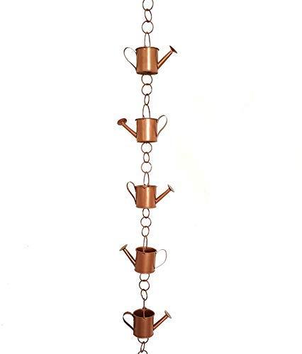 Ationgle Regenkette zum Aufhängen, Eisen, Regenglocke zum Sammeln von Wasser für Haus, Dach, Dachrinnen, Villa Garden, 68 cm Höhe und 6 Tassen