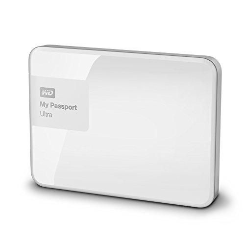 WD WDBGPU0010BWT-EESN My Passport Ultra Hard Disk Esterno Portatile, USB 3.0, 1 TB, Bianco