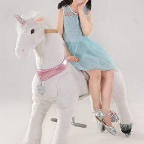 UFREE Caballo Grande mecánico mecedor de Juguete, para cabalgar, Saltar y Andar, Altura de 110 cm, para niños a Partir…
