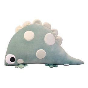 MTHDD Cojín de Peluche de Dinosaurio de Peluche de Peluche de Animales para Dormir Cojín para Niños Girl Boy Gift,Verde,46to60cm