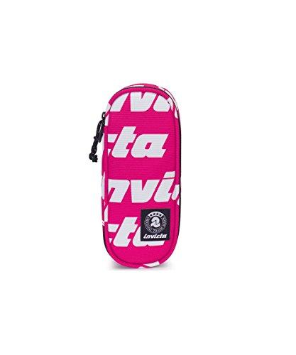 Portapenne INVICTA - LIP PENCIL BAG - Lettering Rosa - porta penne scomparto interno attrezzato