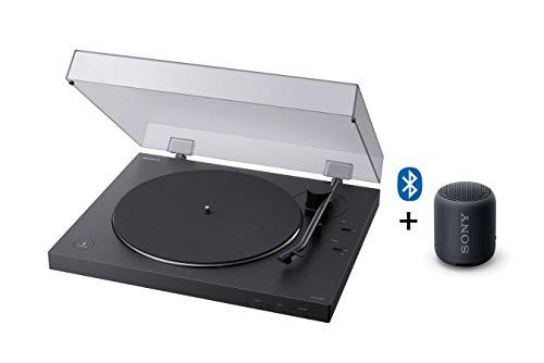 Sony PS-LX310BT Giradischi con Bluetooth + SRS-XB12 speaker compatto resistente all'acqua con EXTRA...