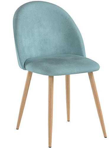 Coavas Set di 2 sedie da Pranzo Sedie con Sedile e Schienale in Cuscino in Velluto Gambe in Metallo Robusto per sedie per Il Pranzo e la Vita, Rose