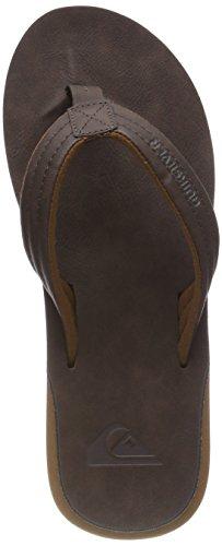 Quiksilver Carver Nubuck-Sandals for Men, Scarpe da Spiaggia e Piscina Uomo, Marrone...