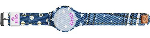 Orologio digitale unisex piccolo ZITTO JEANS STREET EDITION in silicone blu jeans DOTSNSTARS-MINI-KF