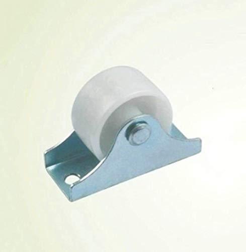 DYV Ruota direzionale in Nylon da 1 Pollice puleggia in plastica Bianca Mute Mobili industriali...