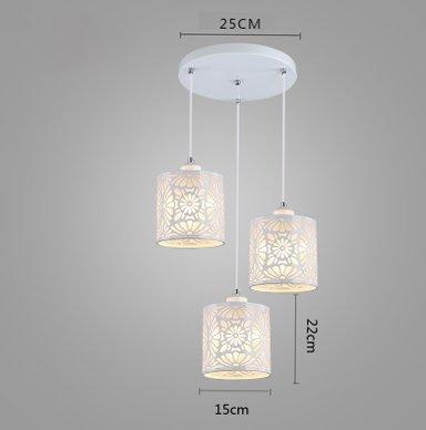 Lightoray Lampada a sospensione Regolabile semplice filo pendente 100cm 3 luci globo circolare...