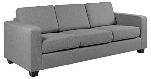 Amazon Brand - Movian Morat - Divano a 3 posti, 90 x 212 x 80 cm (Lu x La x A), grigio chiaro