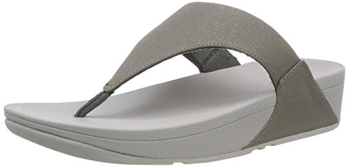 Fitflop Lulu SHIMMERLUX, Infradito Donna, Grigio (Pewter 054), 39 EU